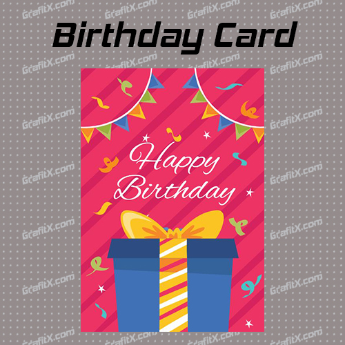 Birthday Card GrafitX Editor