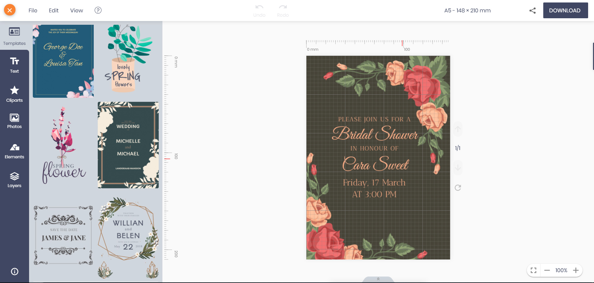Editing Online Wedding Invitation With Enthralling And Unique